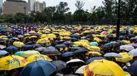 Des manifestants anti-gouvernementaux à Hong Kong le 21 juillet 2019 [Laurel CHOR / AFP]