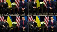 Le président américain Donald Trump et son homologue ukrainien Volodymyr Zelensky, lors d'une rencontre à New York le 25 septembre 2019  [SAUL LOEB / AFP]