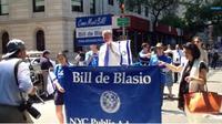 "Bill de Blasio marchant à l'occasion de la ""Israel Parade"""