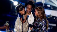 Blue Ivy et ses parents aux MTV Video Music Awards 2014