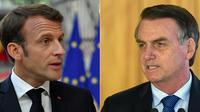 Le président brésilien Jair Bolsonaro a de nouveau alimenté la polémique mercredi avec le président français Emmanuel Macron.