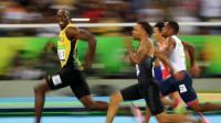 Avant son sacre, le sprinter s'est offert une photo d'exception lors de sa demi-finale.