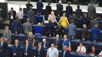 Les 29 eurodéputés ont manifesté leur hostilité à l'UE.