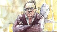 Un dessin fait le 13 septembre 2012 représentant Bruno Cholet, durant son procès à la Cour d'Assises de Paris.
