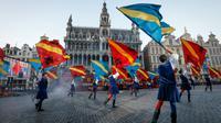 Une manifestation culturelle sur la Grande Place de Bruxelles, le 5 juillet 2017.