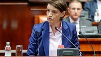 La Première ministre serbe Ana Brnabic au parlement serbe, à Belgrade, le 28 juin 2017 [PEDJA MILOSAVLJEVIC / AFP]