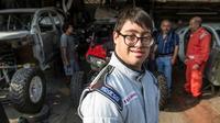 Le co-pilote péruvien Lucas Barron, 25 ans, à Lima, le 18 décembre 2018 [ERNESTO BENAVIDES / AFP/Archives]