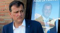 Le député FN Louis Aliot, le 7 juin 2017 à Saint-Laurent-de-la-Salanque dans les Pyrénées-Orientales [RAYMOND ROIG / AFP/Archives]