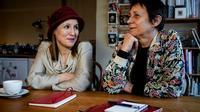 Fatima Ezzarhouni (g) et Sophie Pirson, le 23 janvier 2020 à Bruxelles [Kenzo TRIBOUILLARD / AFP]
