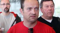 Le délégué CGT de l'usine Goodyear d'Amiens-Nors, Mickaël Wamen, le 3 juin 2013 à Nanterre [Thomas Samson / AFP/Archives]