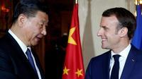 Le président Emmanuel Macron (D) et le président chinois Xi Jinping (G), à Beaulieu-sur-Mer, le 24 mars 2019 [JEAN-PAUL PELISSIER / POOL/AFP]