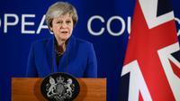 La Première ministre britannique Theresa May, le 25 novembre 2018 ç Bryxekkes [Philippe LOPEZ / AFP]