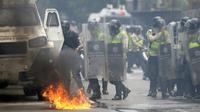 Heurts entre les forces de l'ordre et des manifestants anti-Maduro, le 7 juin 2017 à Caracas [FEDERICO PARRA                       / AFP]