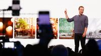 Mark Zuckerberg présente les évolutions apportées à Facebook, le 30 avril 2019 à San José (Californie) [Amy Osborne / AFP]