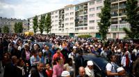 Marche à Mantes-la-Jolie (Yvelines) à l'appel d'associations musulmanes, en solidarité avec la police dont deux fonctionnaires ont été tués le 13 juin à leur domicile par le jihadiste Larossi Abballa, le 19 juin 2016  [Eliot BLONDET / AFP]
