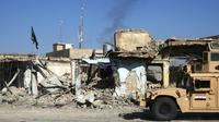 La ville de Hajiwa au lendemain de l'entrée des troupes irakiennes le 6 octobre 2017 [AHMAD AL-RUBAYE / AFP]