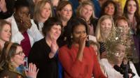 Michelle Obama, le 6 janvier 2017 à la Maison Blanche  [CHRIS KLEPONIS / AFP]