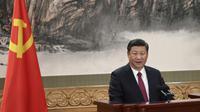 Le président chinois Xi Jinping, le 25 octobre 2017 au Palais du Peuple à Pékin [WANG ZHAO / AFP]
