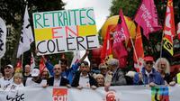 Manifestation pour les retraites à Paris, le 14 juin 2018 [Thomas SAMSON / AFP]