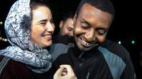 """La journaliLte marocaine Hajar Raissouni, libérée mercredi après avoir été emprisonnée pour """"avortement illégal"""" et """"sexe hors mariage"""". [FADEL SENNA / AFP]"""