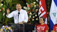 Le président du Nicaragua, Daniel Ortega, le 30 avril 2013 à Managua [Hector Retamal / AFP/Archives]