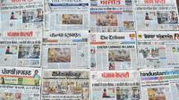 Titres de la presse indienne au lendemain des attentats au Sri Lanka [NARINDER NANU / AFP]