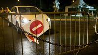 Une route bloquée à Remire-Montjoly  en Guyane française le 10 avril 2017 [jody amiet / AFP]