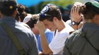 Enterrement près de Ramallah le 1er juillet 2014, de Gilad Shaer, 16 ans, l'un des trois jeunes Israéliens enlevés le 12 juin et tués (archives) [Menahem Kahana / AFP/Archives]