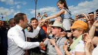 Emmanuel Macron, le 24 juin 2017 à Paris  [JEAN-PAUL PELISSIER / POOL/AFP]