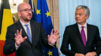 Le Premier ministre belge, Charles Michel (g), et son ministre des Affaires étrangères, Didier Reynders, à Bruxelles le 24 octobre 2016  [LAURIE DIEFFEMBACQ / BELGA/AFP]