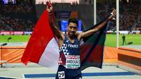 Le Français Morhad Amdouni champion d'Europe du 10.000 m, le 7 août 2018 à Berlin  [Odd ANDERSEN / AFP]