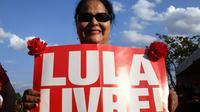 Une partisane de l'ancien président brésilien Luiz Inacio Lula da Silva pendant une manifestation de soutien à l'ex-chef de l'Etat le 15 août 2018 à Brasilia [EVARISTO SA / AFP/Archives]