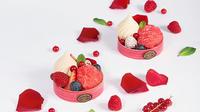 Mama Rosa, création spéciale du Café Pouchkine, associe fruits rouges et rose.