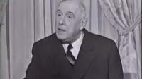 Le Général de Gaulle interviewé entre les deux tours de l'élection présidentielle, en 1965