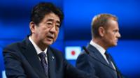 Shinzo Abe et Donald Tusk