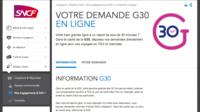 La garantie G30 est applicable toute l'année, dès 30 minutes de retard, sur le site de la SNCF.
