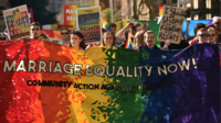 Manifestation pro-mariage homosexuel à Sydney