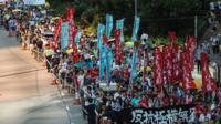 Manifestation à Hong-Kong