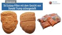 Les comprimés retrouvés sont à l'effigie de Trump
