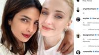 Priyanka Chopra a publié ce lundi une photo d'elle avec Sophie Turner.