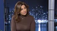 La ministre Nabila Makram lors d'une interview en Égypte