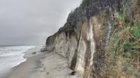 Des morceaux de la falaise sont tombés sur un groupe de baigneurs.