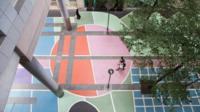 La rue Henri Desgrange (12e) a été embellie par le collectif d'artistes Basco Vazko, Otra Ciudad, 1week 1project, Sophie Picoty.