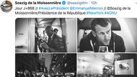 Soazig de la Moissonnière, photographe officielle de l'Elysée, partage régulièrement des clichés du chef de l'Etat dans l'intimité.