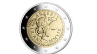 La nouvelle pièce de 2 euros à l'effigie d'Astérix a été frappée à 310 000 exemplaires