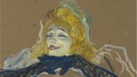 Yvette Guilbert chantant Linger, une des oeuvres présentées au Grand Palais dans le cadre de l'exposition Toulouse Lautrec