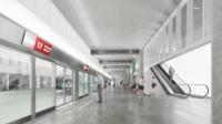 Ici, la gare du Bourget Aéroport sur la ligne 17.