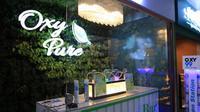 Le bar à oxygène, baptisé Oxy Pure, propose des séances de 15 minutes, vendues entre 4 et 6 euros.