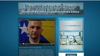 Capture d'écran de la page d'accueil du site de Mirad Hadziahmetovic.