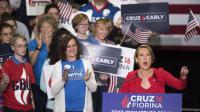 Carly Fiorina lors d'un meeting du sénateur Ted Cruz à Indinapolis, mercredi 27 avril 2016.
